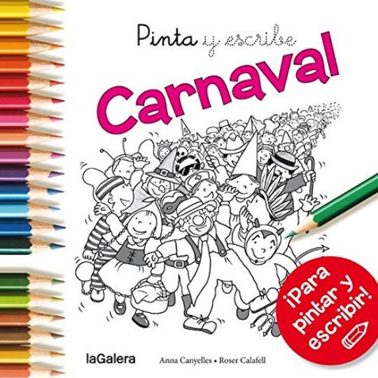 Pinta y escribe: carnaval