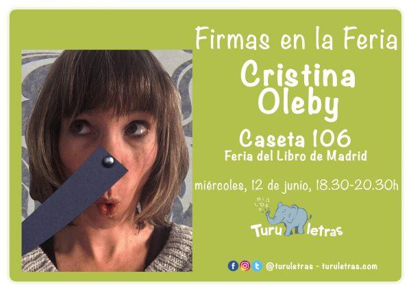 Feria del Libro de Madrid 2019: Firma de Cristina Oleby