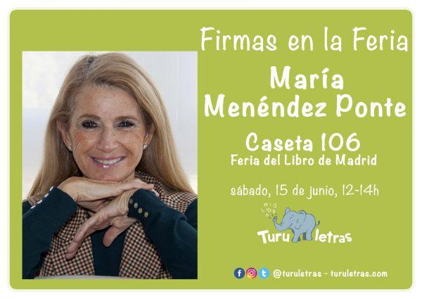 Feria del Libro de Madrid 2019: Firma de María Menéndez-Ponte